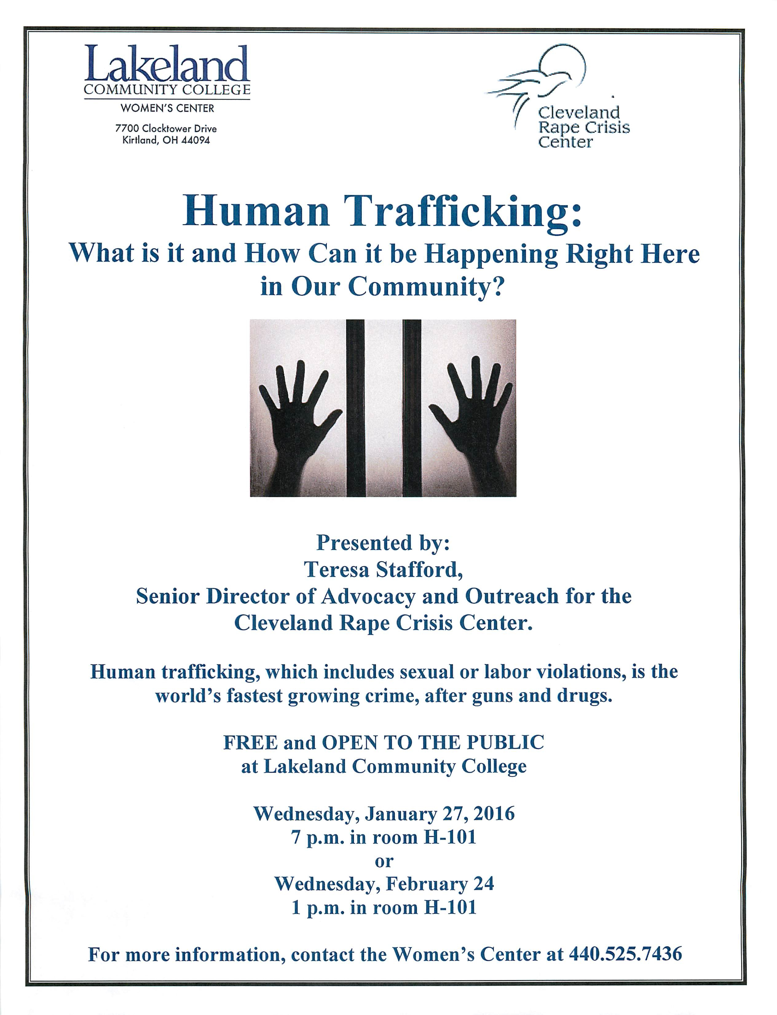 Human trafficking in our community january 27 2016 7 pm at human trafficking in our community january 27 2016 7 pm at lakeland community college fandeluxe Choice Image