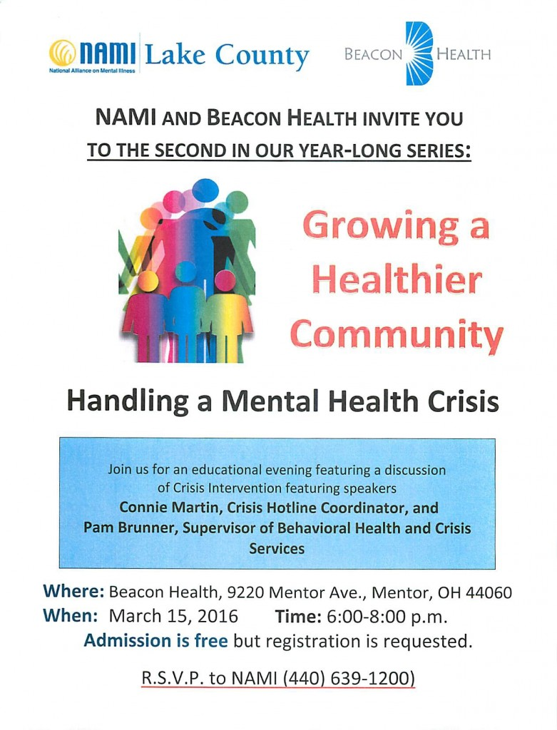 March 15, 2016 - Handling a Mental Health Crisis - Beacon