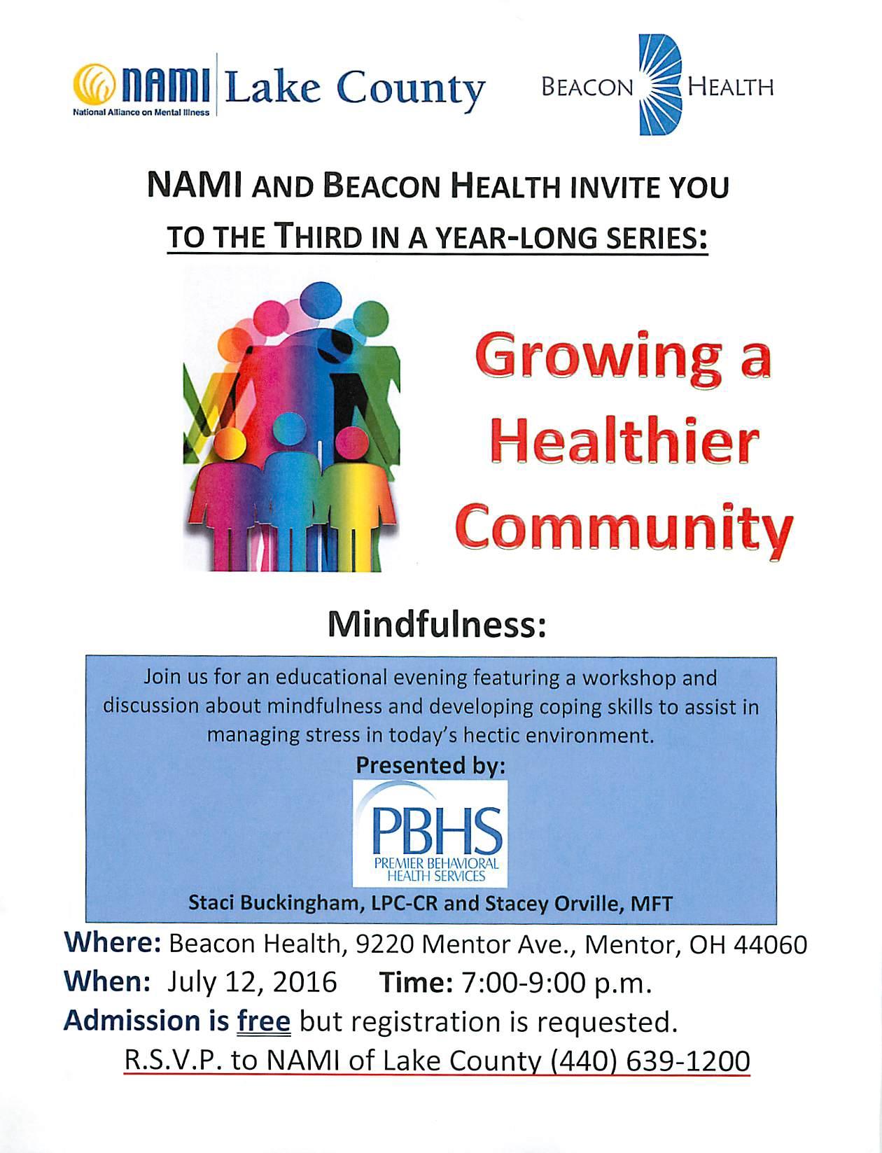 2016-07-12 NAMI Growing a Healthier Communtiy - Beacon